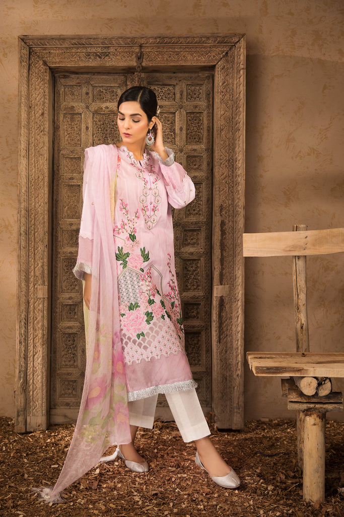 Sapphire Naqsh Dar Lawn Eid Collection Vol-V – Floral Fantasy B