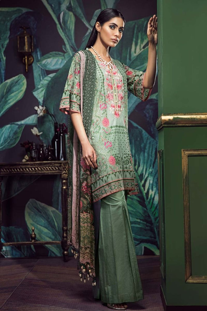 Khaadi Classics Lawn Collection 2018 – G18101 Green 3Pc