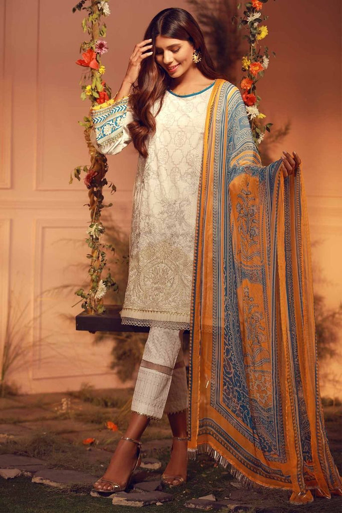 Khaadi Luxury Collection 2018 – G18201 White