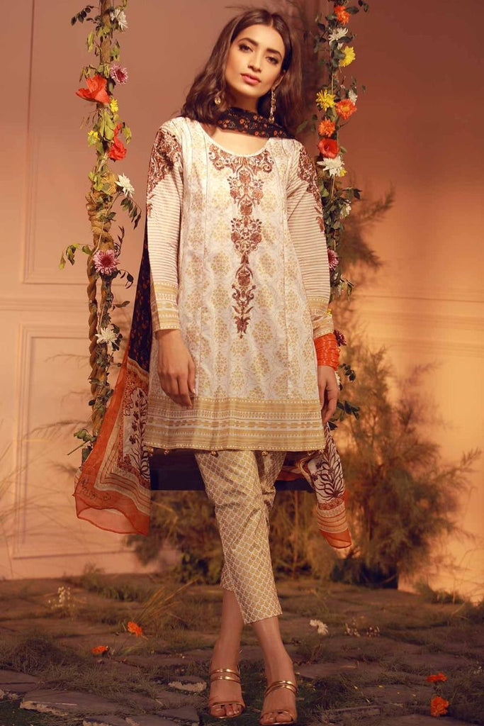 Khaadi Luxury Collection 2018 – G18202 Beige