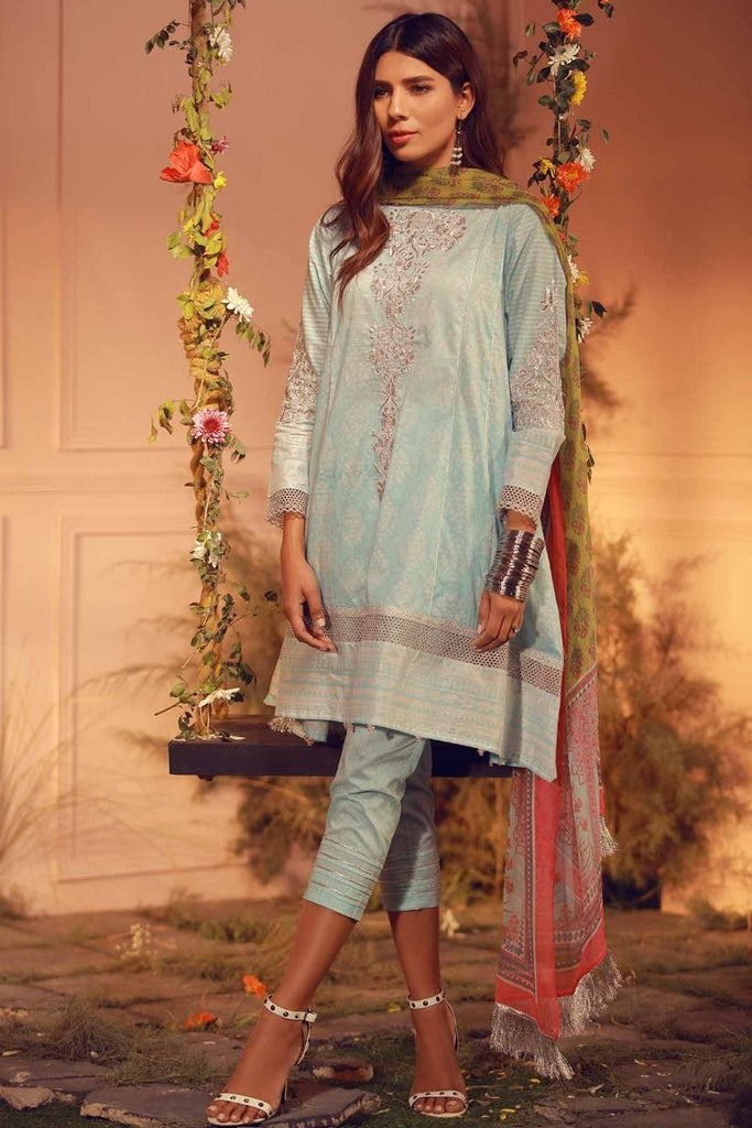 Khaadi Luxury Collection 2018 – G18202 Blue