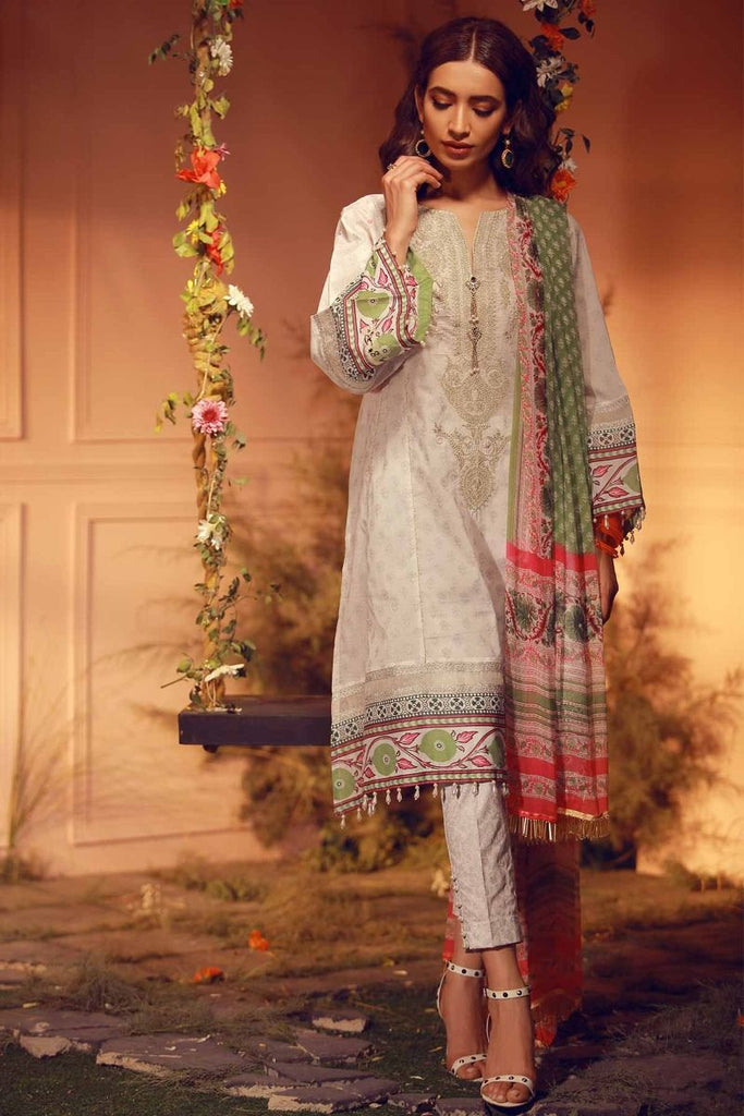 Khaadi Luxury Collection 2018 – G18204 White
