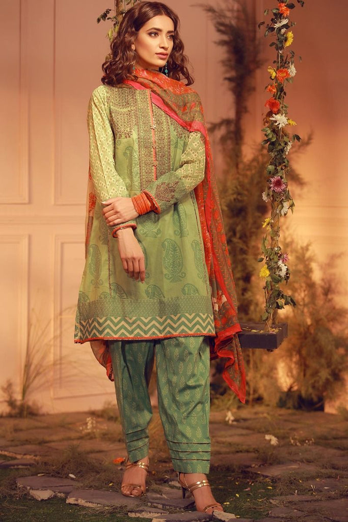 Khaadi Luxury Collection 2018 – G18206 Green