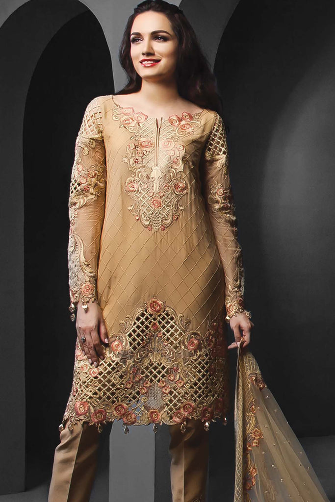 Anaya Festive Chiffon Collection –Gilded Rose - YourLibaas  - 1