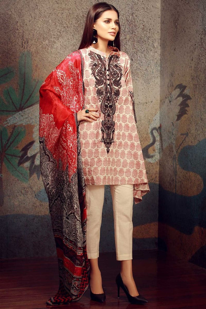 Khaadi Classics Lawn Collection 2018 – H18101 Red 3Pc
