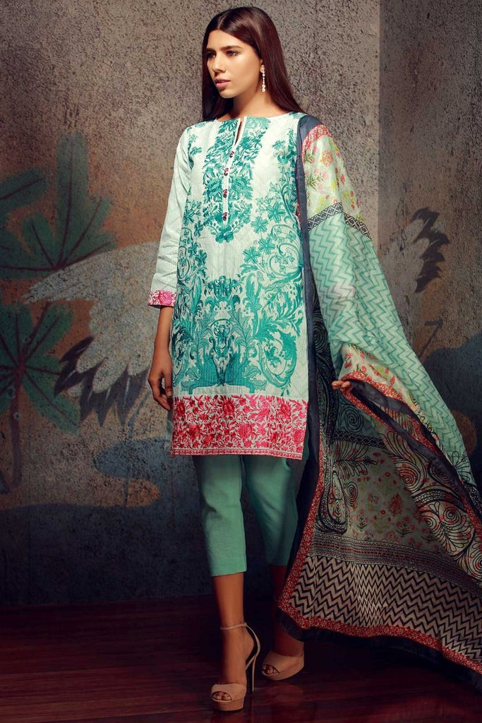 Khaadi Classics Lawn Collection 2018 – H18108 Light Blue 3Pc