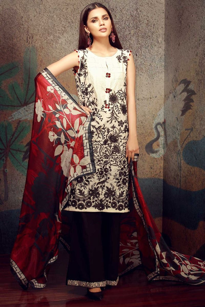 Khaadi Classics Lawn Collection 2018 – HH18102 Black 3Pc