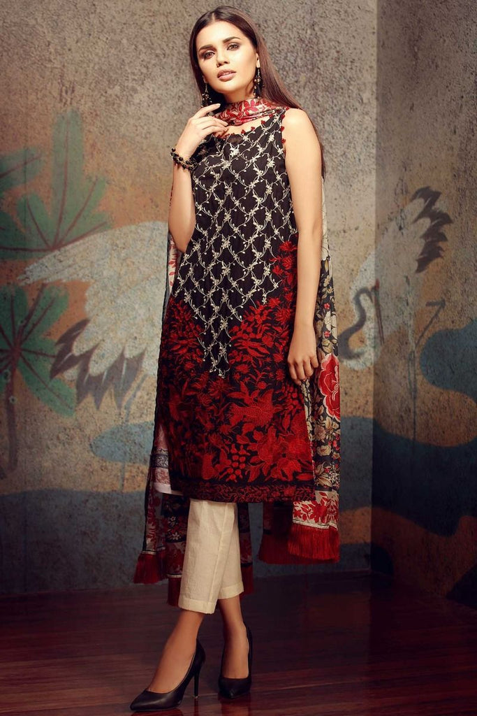 Khaadi Classics Lawn Collection 2018 – HH18103 Black 3Pc