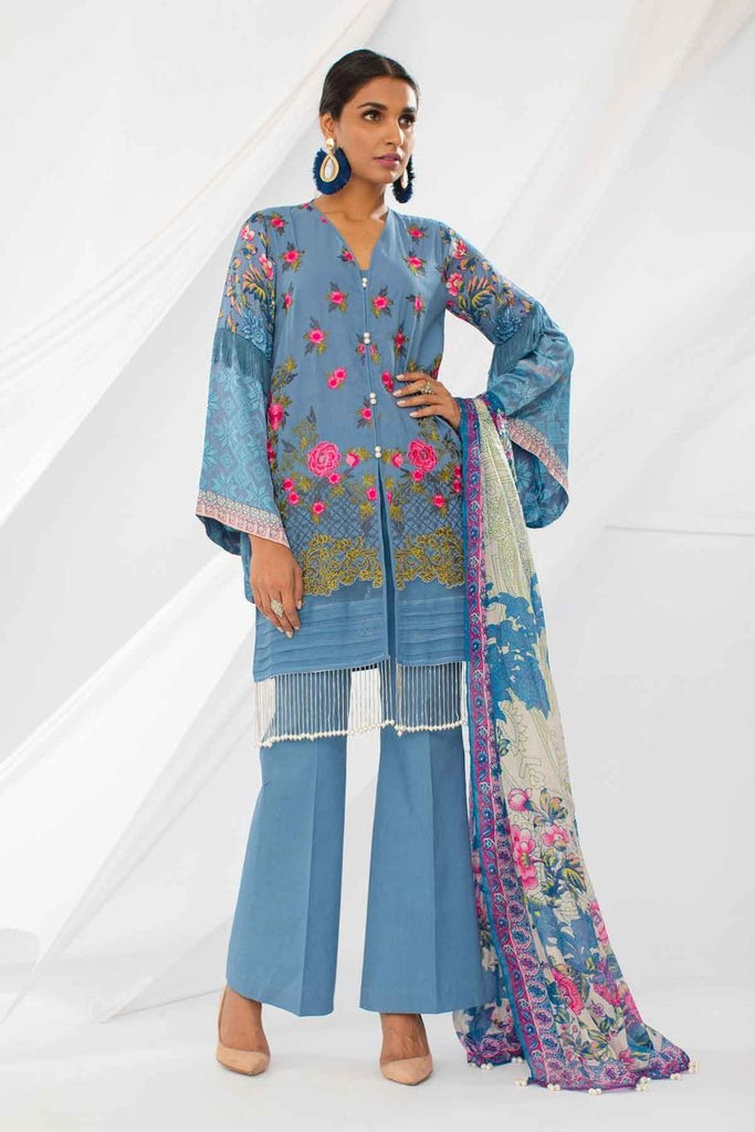 Khaadi Mid Summer Lawn Collection 2018 – HH18302 Grey 3Pc