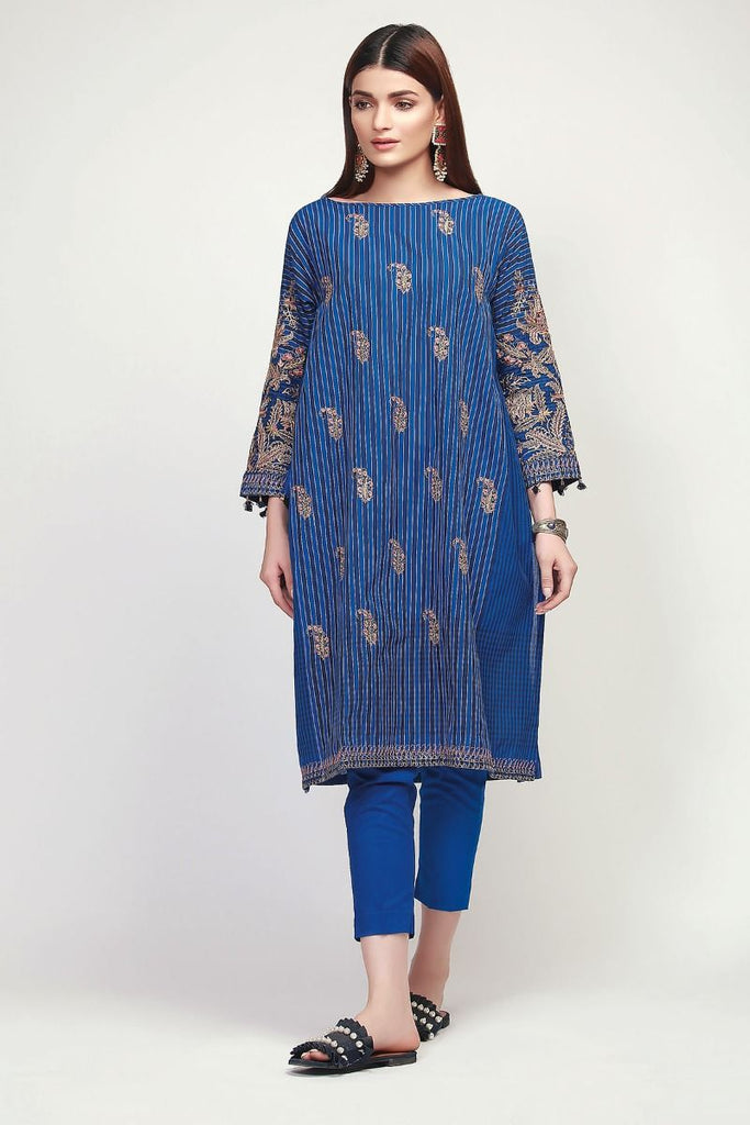 Khaadi Early Spring/Summer Lawn Collection 2019 V2 – HLI19105 Blue 2Pc