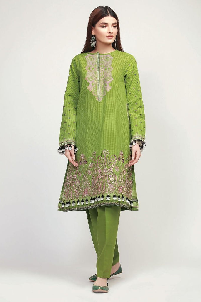 Khaadi Early Spring/Summer Lawn Collection 2019 V2 – HLI19106 Green 2Pc