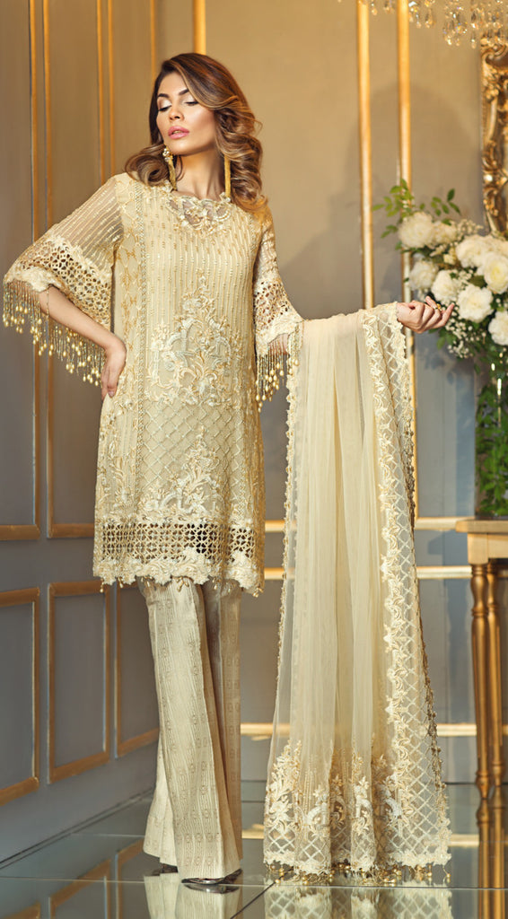 Anaya Festive Chiffon Collection 2017 – Honey Dew