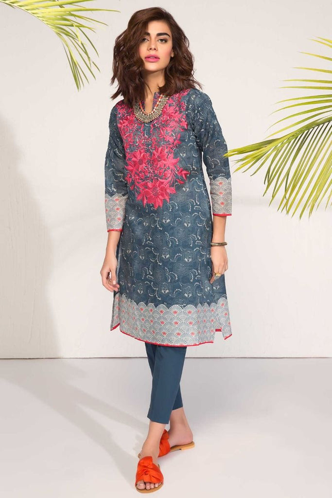 Khaadi Tropical Escape Lawn Collection 2018 – I18102 Blue 2Pc