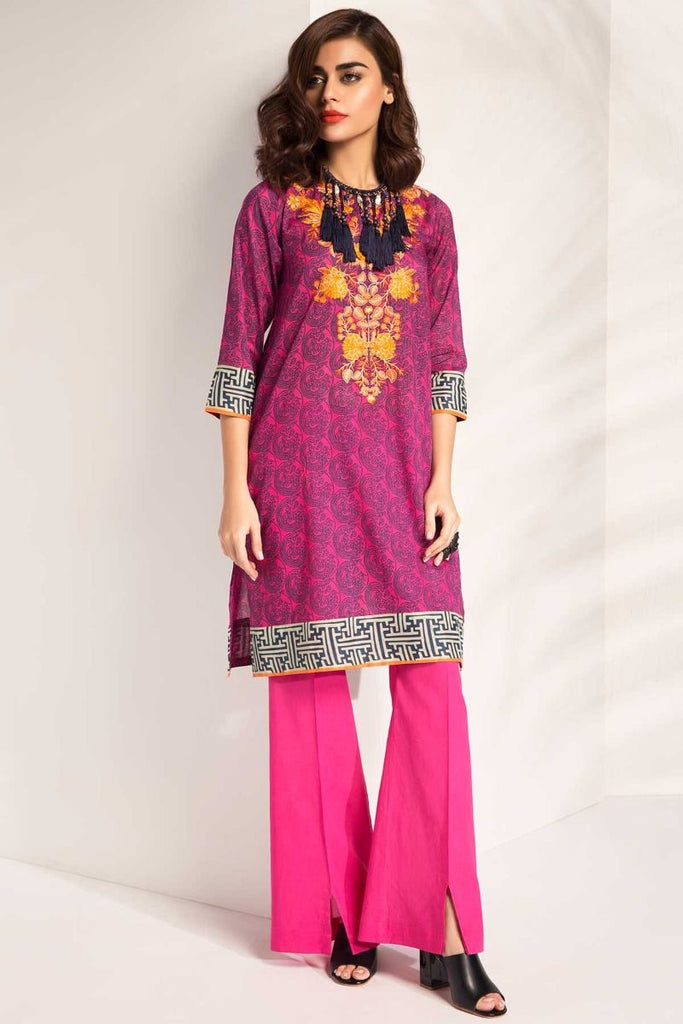 Khaadi Tropical Escape Lawn Collection 2018 – I18104 Pink 2Pc