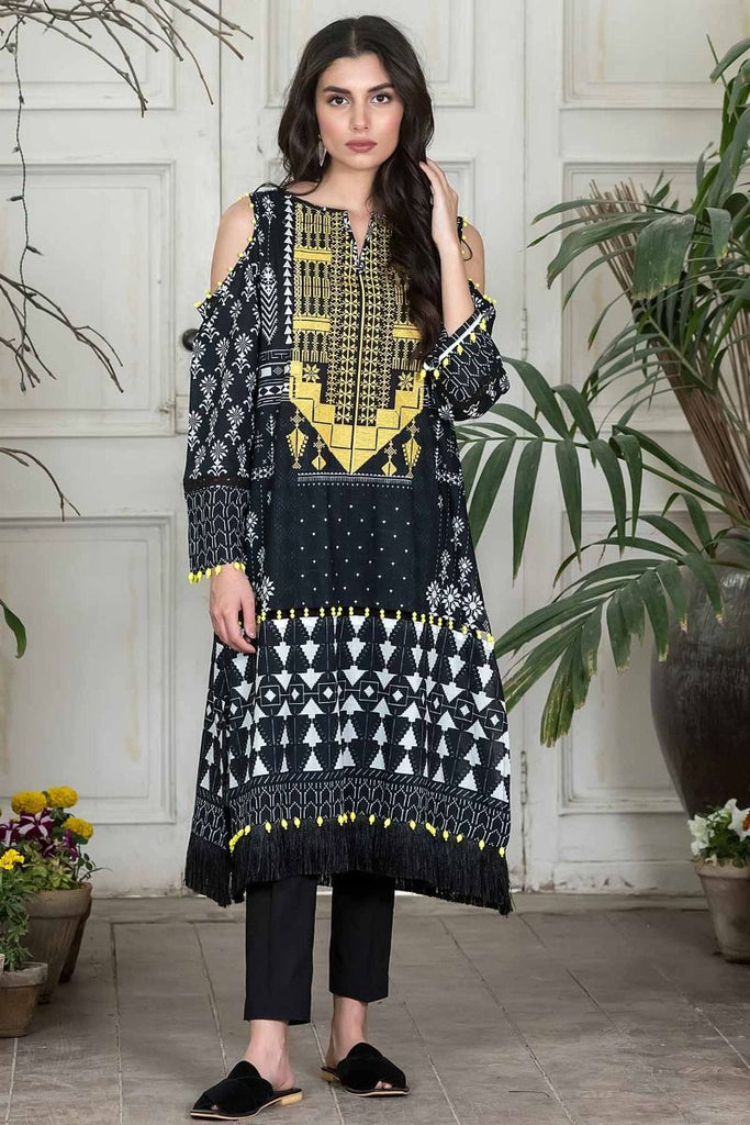 Khaadi Summer Lawn Collection 2018 Vol-2 – I18203 Black