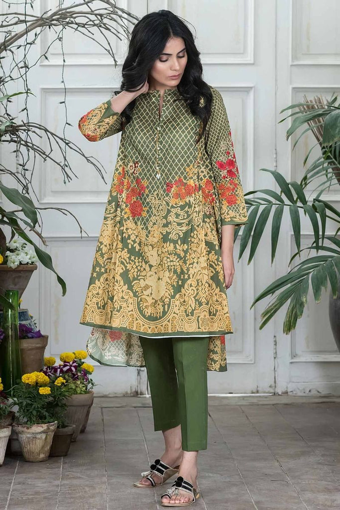 Khaadi Summer Lawn Collection 2018 Vol-2 – I18204 Green