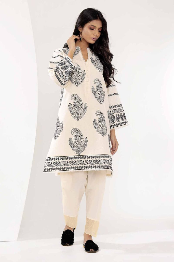 Khaadi Mid Summer Lawn Collection 2018 – I18301 Off White 2Pc