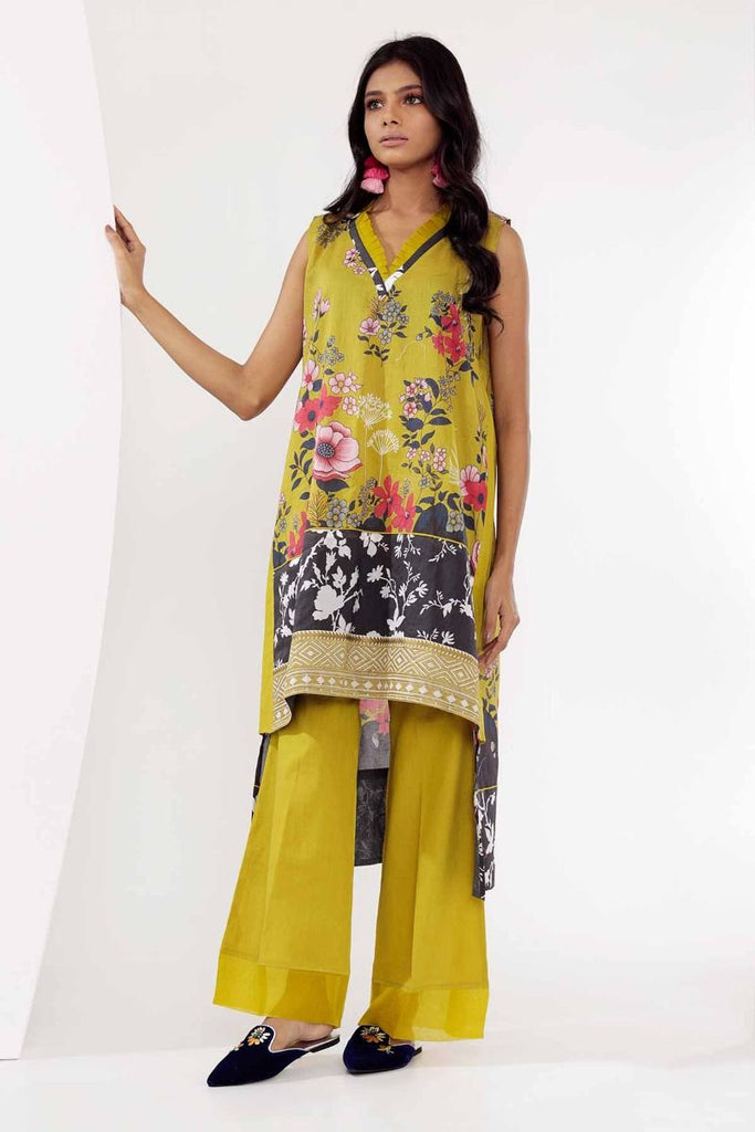 Khaadi Mid Summer Lawn Collection 2018 – I18304 Green 2Pc
