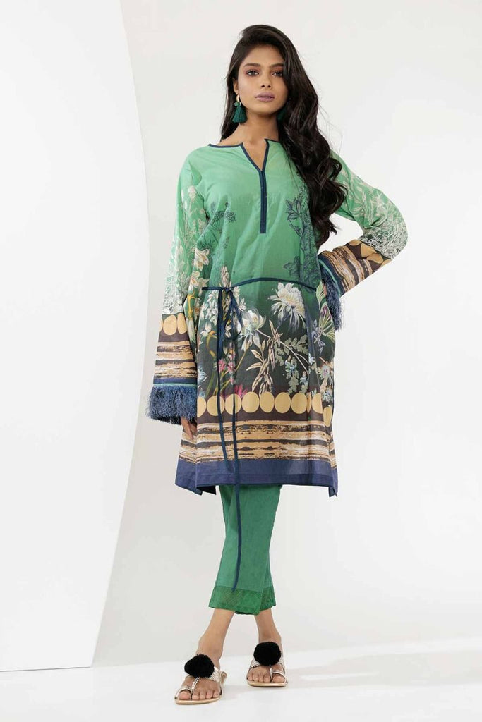 Khaadi Mid Summer Lawn Collection 2018 – I18306 Green 2Pc