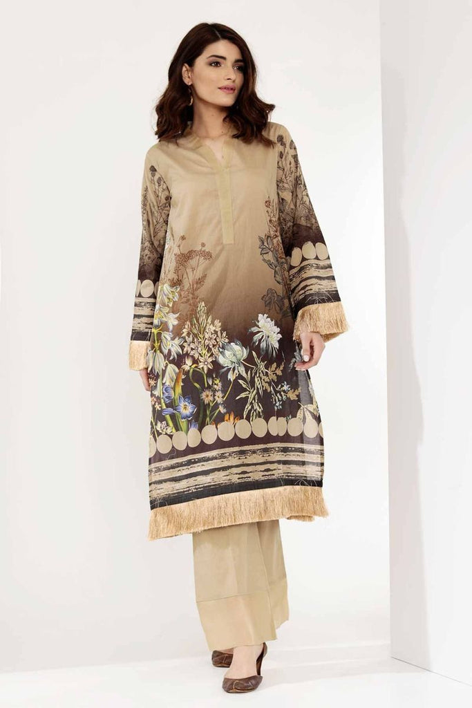 Khaadi Mid Summer Lawn Collection 2018 – I18306 Beige 2Pc