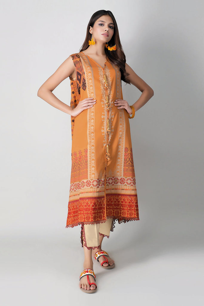 Khaadi Spring Collection 2021 – 2PC Suit · Embroidered Kameez Pants · I21106 Yellow