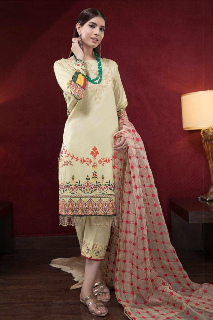 Hina Shah Luxury Lawn Collection 2018 – Dhahabo HS-10