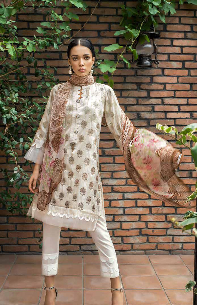 Gul Ahmed Formal Brights Collection 2019 – PS06 – Silken Pearl