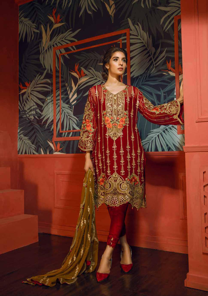 Eshaal Embroidered Luxury Chiffon Collection Vol-2 by Emaan Adeel – EA08