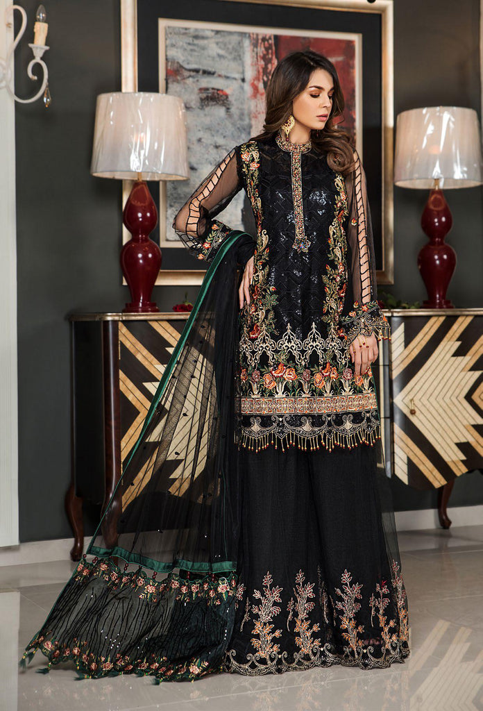 Maryam's Gold Luxury Embroidered Chiffon Collection Vol 5 – MG-55