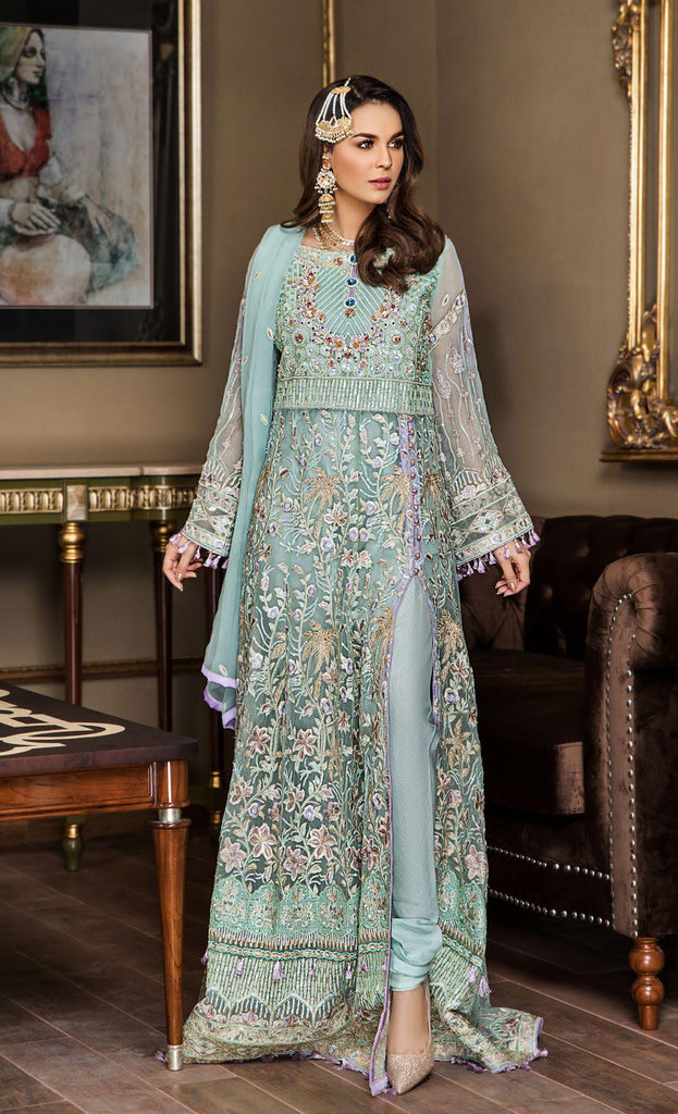 Maryam's Gold Luxury Embroidered Chiffon Collection Vol 5 – MG-56