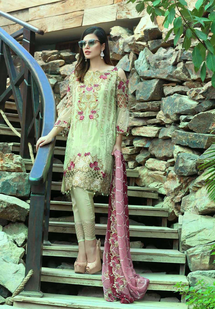 Eshaal Luxury Embroidered Festive Eid Chiffon Collection by Emaan Adeel – EA08