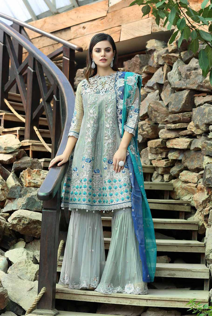 Eshaal Luxury Embroidered Festive Eid Chiffon Collection by Emaan Adeel – EA09