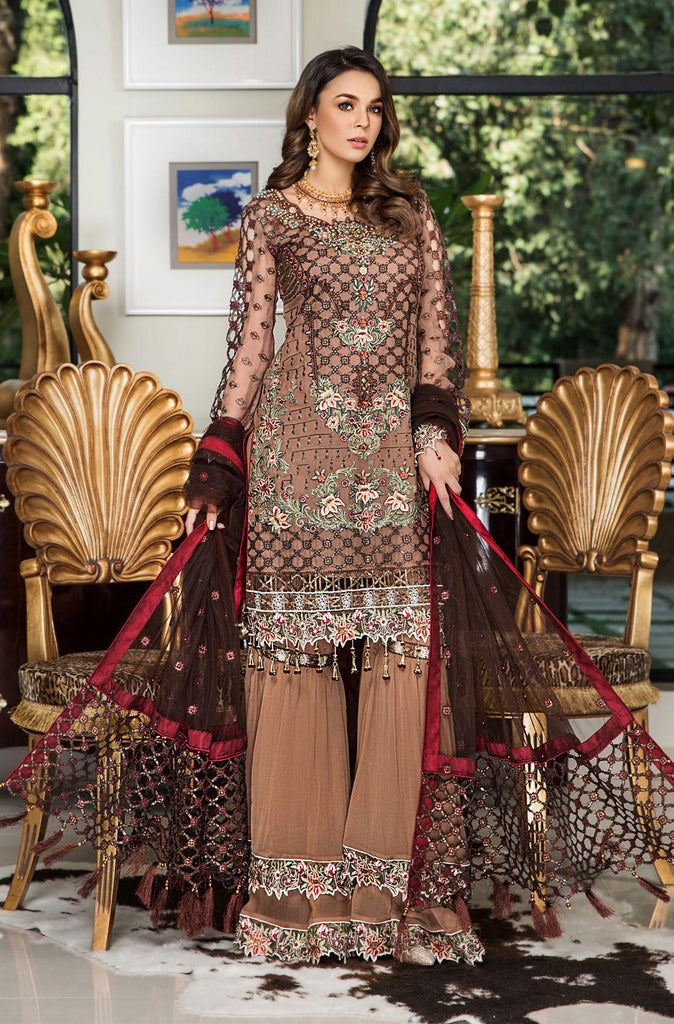 Maryam's Gold Luxury Embroidered Chiffon Collection Vol 5 – MG-60