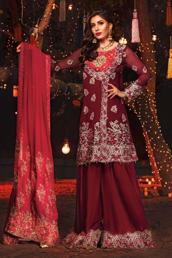 EmbRoyal Dewan-e-Khas Luxury Chiffon Wedding Collection – 07-Chic Rose