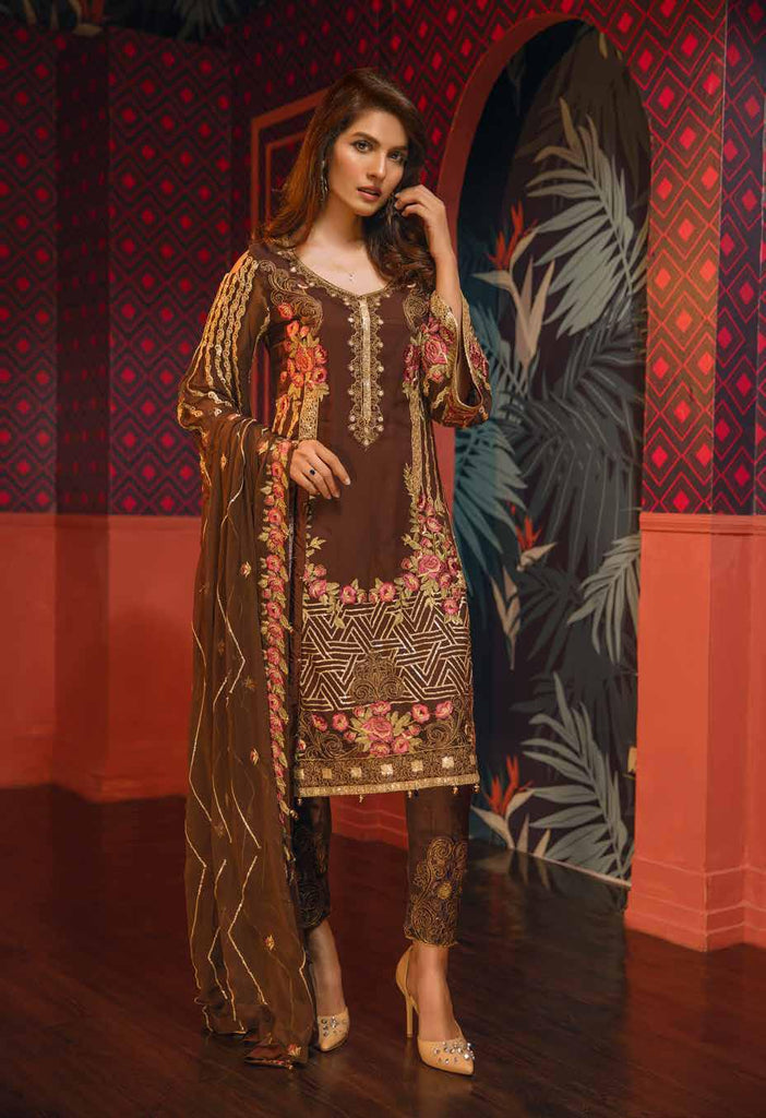 Eshaal Embroidered Luxury Chiffon Collection Vol-2 by Emaan Adeel – EA01