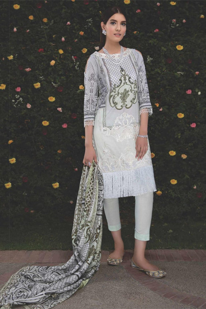 Hina Shah Luxury Lawn Collection 2018 – Fedha HS-04