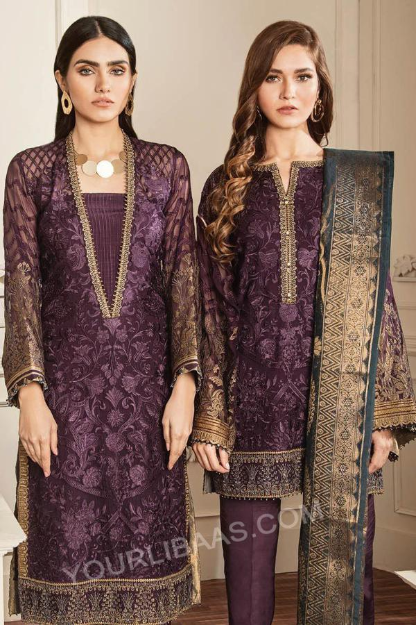 Baroque Chantelle Embroidered Chiffon Collection Vol-5 – 10 - Amethyst
