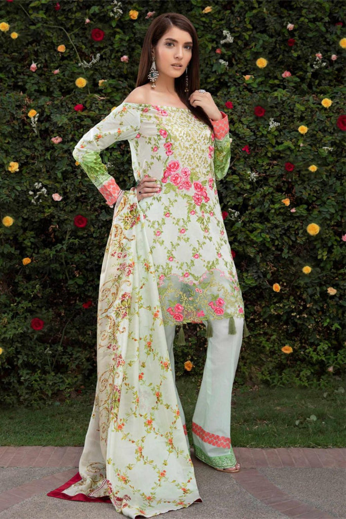 Hina Shah Luxury Lawn Collection 2018 – Nzuri HS-07