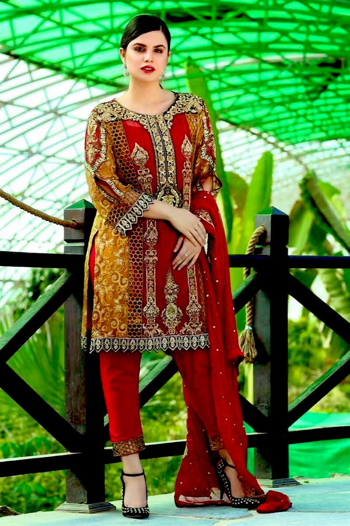 Eshaal Luxury Embroidered Festive Eid Chiffon Collection by Emaan Adeel – EA05