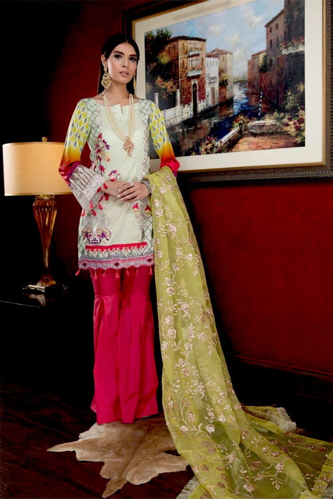 Hina Shah Luxury Lawn Collection – Goue rye HS-09