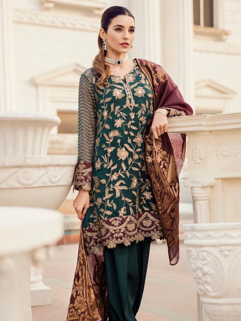 Iznik Chinon Chiffon Collection 2019 – 03 Golden Garden