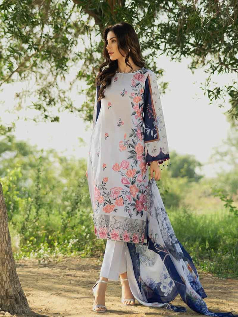 Gul Ahmed Malmal Collection Vol-2 2019 – Sea Blue SSM-21