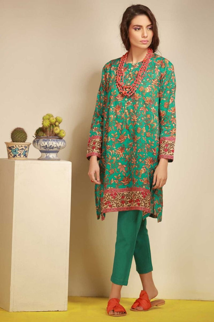 Khaadi Tropical Escape Lawn Collection 2018 – J18103 Sea Green 2Pc