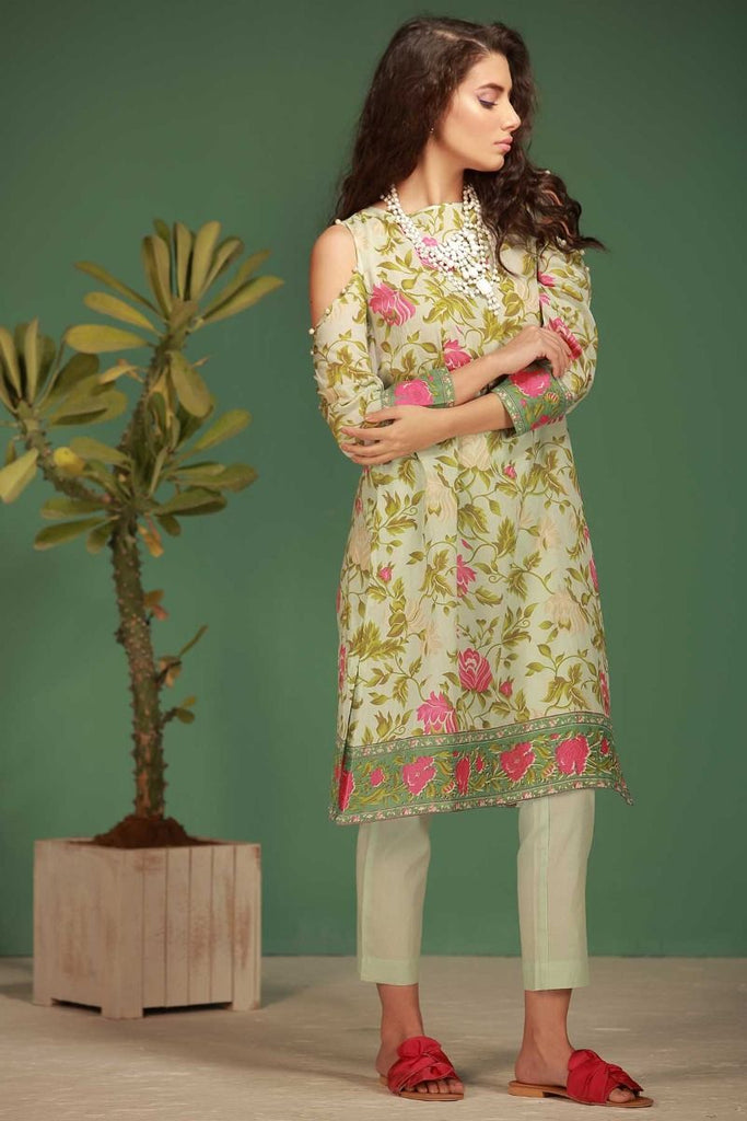 Khaadi Tropical Escape Lawn Collection 2018 – J18104 Blue 2Pc