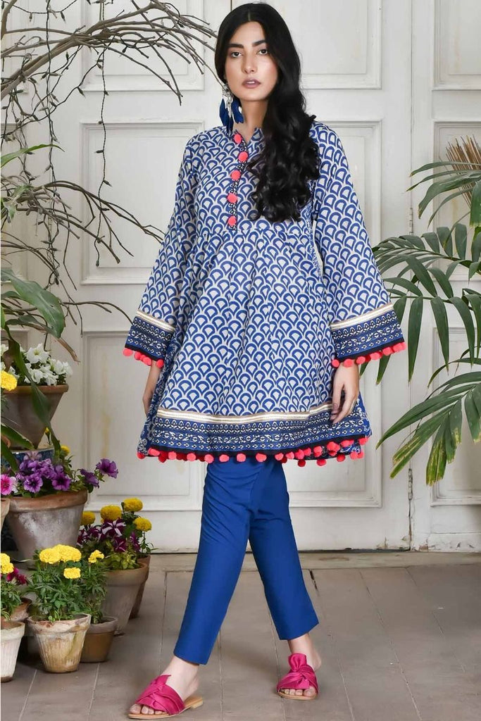 Khaadi Summer Lawn Collection 2018 Vol-2 – J18201 Blue