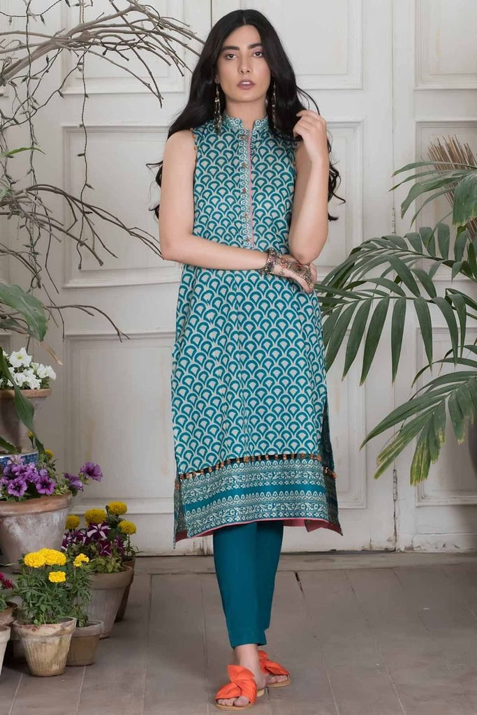 Khaadi Summer Lawn Collection 2018 Vol-2 – J18201 Green
