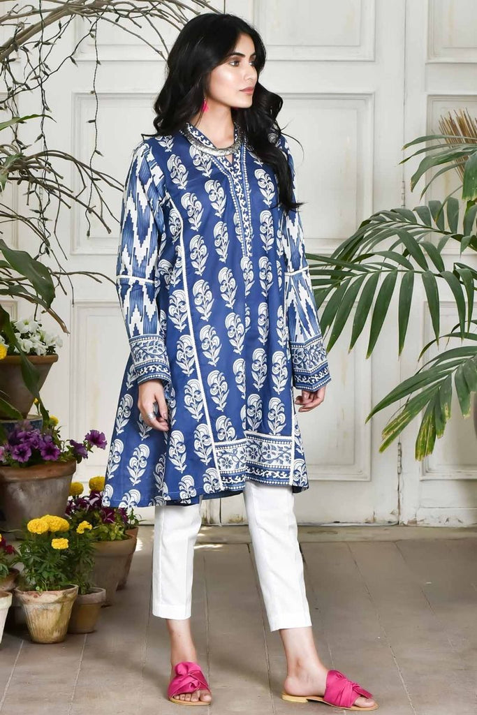 Khaadi Summer Lawn Collection 2018 Vol-2 – J18203 Blue