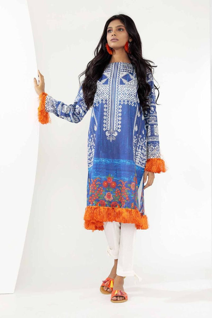 Khaadi Mid Summer Lawn Collection 2018 – J18302 Blue 2Pc