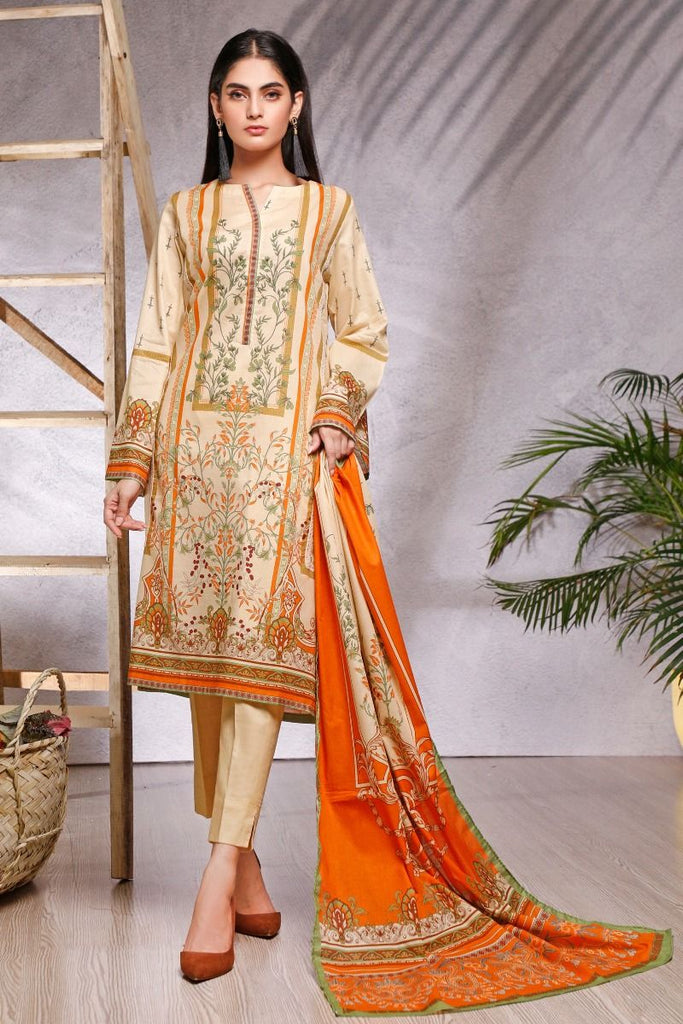 Gul Ahmed Azaadi Edition – 3 PC Unstitched Digital Printed Lawn Suit CLP-13 A