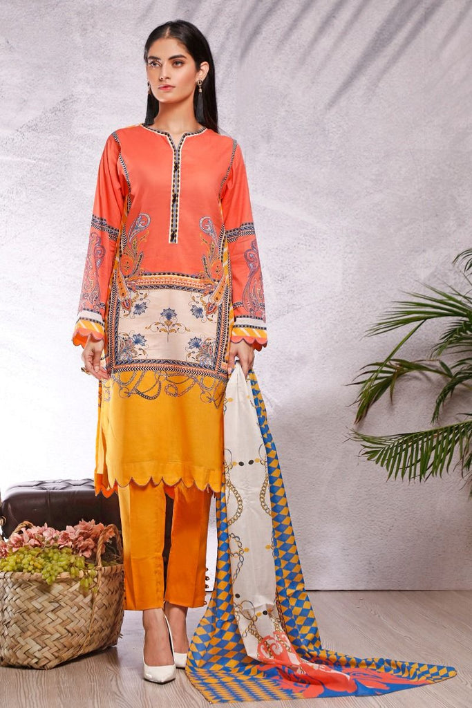 Gul Ahmed Azaadi Edition – 3 PC Unstitched Digital Printed Lawn Suit CLP-53 A